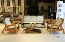 Sofa gỗ - xu hướng nội thất phòng khách năm 2016