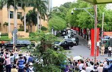 'Quái thú' chở ông Obama rời khách sạn InterContinental