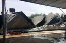 Cháy rụi xưởng chứa vật liệu làm thùng xốp
