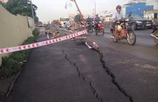 Quốc lộ 1 bỗng dưng nứt toác