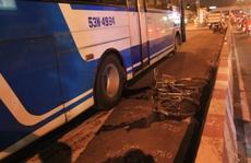 Xe buýt cán chết người ở trạm thu phí cầu Bình Triệu