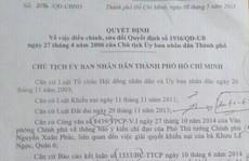 Ban hành văn bản trái luật, UBND TP HCM thua kiện