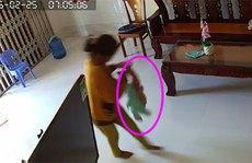 """Bình Thuận: """"Sốc"""" cảnh bé trai 8 tháng tuổi bị người giúp việc bạo hành"""