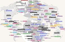 Bản đồ 'số 1' của các quốc gia trên thế giới