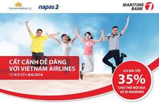 Vietnam Airlines giảm đến 35% cho khách hàng Maritime Bank