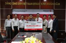 Vietlott đã trao thưởng cho người trúng 65 tỉ đồng
