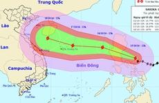 Bão giật cấp 17 tiến vào Biển Đông có thể gây mưa lớn ở miền Trung