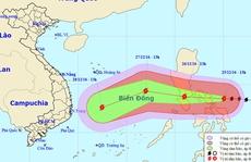 Bão Nock-ten giật cấp siêu bão đang tiến vào Biển Đông
