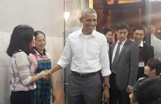 Tổng thống Obama dùng bữa tối bằng món bún chả Hà Nội