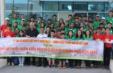 Thanh thiếu niên kiều bào thăm Khu Liên hợp Đa Phước