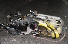 Bị trọng thương do... lao xe vào hiện trường tai nạn