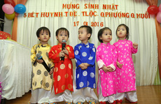 Những em bé trong ca sinh 5 đáng yêu tuổi lên 3