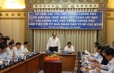 Tổ Công tác của Thủ tướng đang làm việc với UBND TP HCM