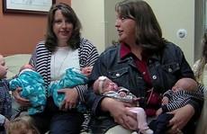 Mỹ: Chị em song sinh 2 lần sinh đôi