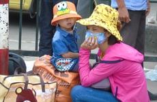 Người dân lả người trở lại Hà Nội sau kỳ nghỉ lễ