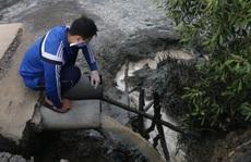 Bắt tại trận công ty xả thải ra sông Cỏ May