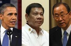 Ông Duterte bị kẹp giữa 2 'oan gia' tại tiệc ASEAN