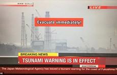 Sóng thần ập vào Nhật Bản sau trận động đất gây chấn động Fukushima