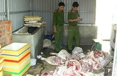 Thu giữ hơn 900 kg thịt, xương heo thối