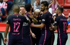 Vùi dập Gijon, Barcelona áp sát ngôi đầu của Real