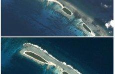 Công trình phi pháp của Trung Quốc ở Hoàng Sa bị bão đánh tan