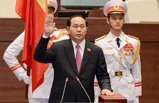 Chủ tịch nước Trần Đại Quang tuyên thệ nhậm chức