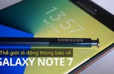 Thế Giới Di Động hoàn tiền cho khách đã mua Galaxy Note 7