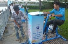 Tập thể dục kết hợp lọc nước
