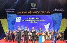 Hòa Bình nhận biểu trưng Thương hiệu Quốc gia lần 5