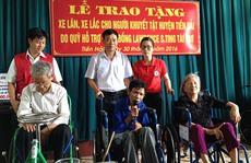 Tặng 300 xe lăn, xe lắc cho người khuyết tật