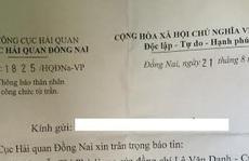 Xôn xao vụ gửi văn bản thông báo mẹ cục trưởng hải quan mất!