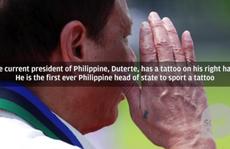 Bật mí hình xăm trên tay tổng thống Philippines