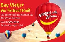 Bay Vietjet vui Festival Huế