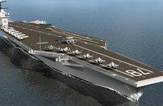 Mỹ thử nghiệm 'sốc': Đánh bom gần siêu tàu sân bay