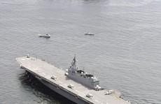 Tàu sân bay lớn nhất của Nhật theo sát tàu Mỹ