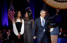 Sasha Obama ở đâu khi cha phát biểu chia tay?