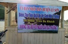 Người dân bức xúc đề xuất thu phí bảo vệ môi trường ở Lý Sơn