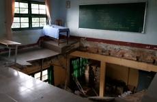 Vụ sàn phòng học đổ sập: Không phát hiện dấu hiệu xuống cấp?