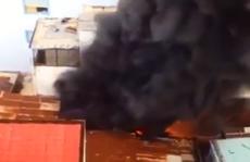 Sập căn nhà cháy, 1 người chết, 2 người bị thương
