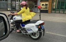 Hải Phòng: Xác minh cô gái lái xe tuần tra của CSGT