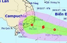 Áp thấp khả năng mạnh lên thành bão hướng vào TP HCM