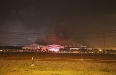 Cháy lớn ở nhà xưởng Công ty CP Ô tô Trường Hải
