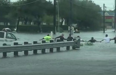 Bão Harvey: 'Sợi xích người' cứu nạn nhân trong nước lũ