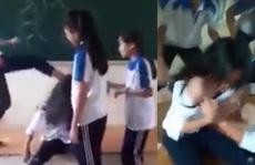 6 nữ sinh đánh hội đồng, lột áo bạn giữa lớp