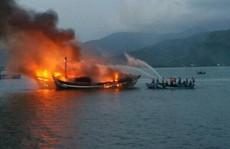 Đang neo đậu, hàng loạt tàu cá bỗng dưng bốc cháy