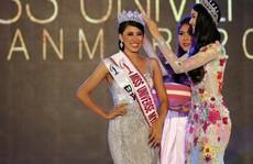 Cận cảnh nhan sắc tân Hoa hậu Hoàn vũ Myanmar