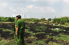 Bộ Công an bắt xe đổ trộm bùn thải trong chợ đầu mối Bình Điền