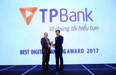 """TPBank được bình chọn giải """"Ngân hàng số xuất sắc nhất 2017'"""