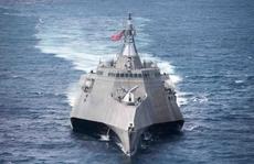 Tàu chiến 'tàng hình' của Hải quân Mỹ bảo dưỡng ở Cam Ranh