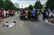 Xe máy tông nhau, 1 người chết, 1 người nguy kịch